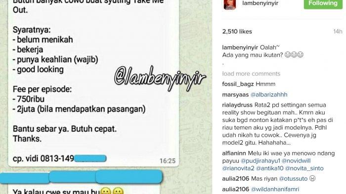 Cara pendaftaran nama peserta take me out indonesia 2017 lambenyinyir